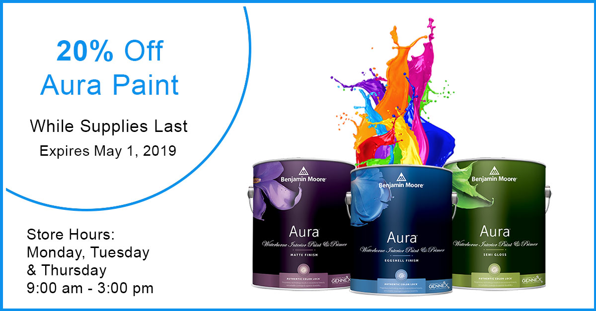 Aura Paint - 20% off while supplies last